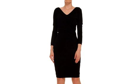 Dámské černé šaty s tříčtvrtečním rukávem Yuliya Babich