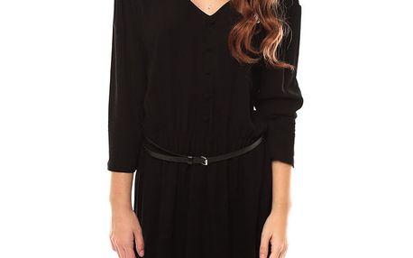 Dámské černé šaty s páskem My Little Poesy