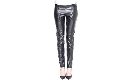 Dámské koženkové černé kalhoty s puky Gene