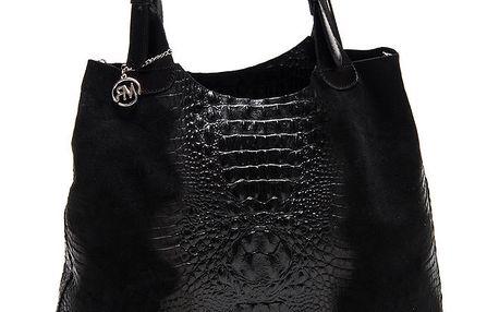 Dámská černá krokodýlí kabelka Roberta Minelli