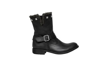 Dámské černé kotníkové boty s kožíškem Buggy