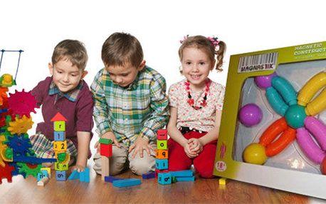Dvě dětské hry pro děti - Rotující kolečka nebo Magnastix II.