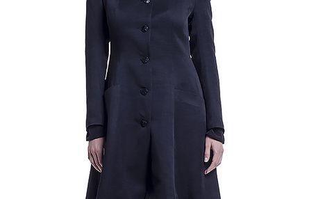 Dámský černý bavlněný kabát Lora Gene