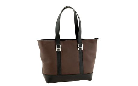 Dámská hnědo-černá kožená taška Valentina Italy