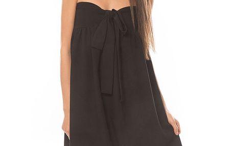 Dámské černé šaty se žlutou krajkou My Little Poesy