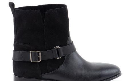 Dámské černé boty s přezkou Liberitae