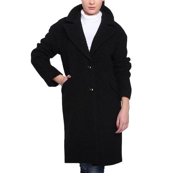 Dámský černý oversized kabát Vera Ravenna