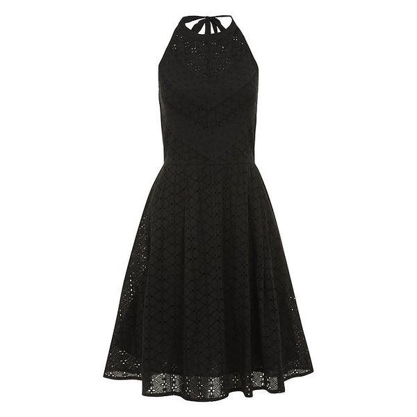 Dámské perforované černé šaty Uttam Boutique
