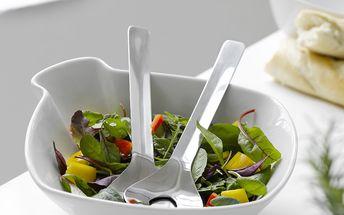 Porcelánová salátová mísa Milano s příborem