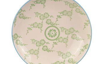 Porcelánový talíř Animal Colored Blue/Green, 21.5 cm