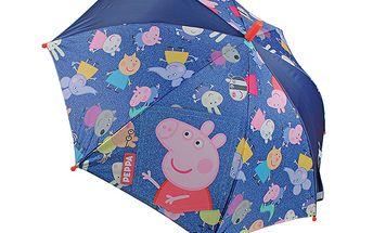 Dívčí automatický deštník (48cm) - Prasátko Pepina