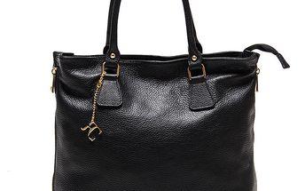 Dámská černá kabelka s bočními zipy Renata Corsi