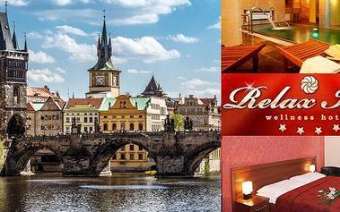 3 dny v 4* hotelu Relax Inn nedaleko centra Prahy s lahodnými snídaněmi, vstupem do relaxačního bazénu s masážními tryskami a dalšími slevami na wellness. Ideální dovolená ve stověžaté Praze za skvělou cenu.