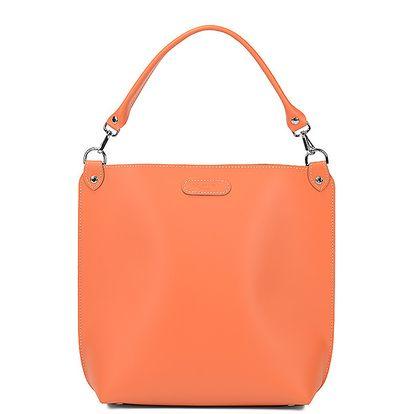 Kožená kabelka Alice Orange