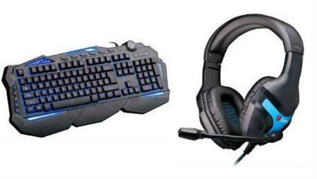 Herní komponenty C-TECH: sluchátka a klávesnice