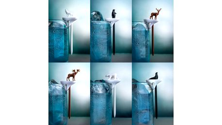 Rozlišovače na skleničky/napichovátka Party Animal, 6 ks
