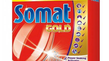Tablety Somat Gold 60ks spolehlivě odstraňují i ty nejodolnější nečistoty a zbytky jídla