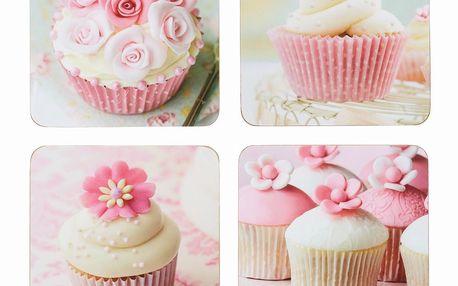 Set tácků Cupcakes, 4 ks, 10x10 cm