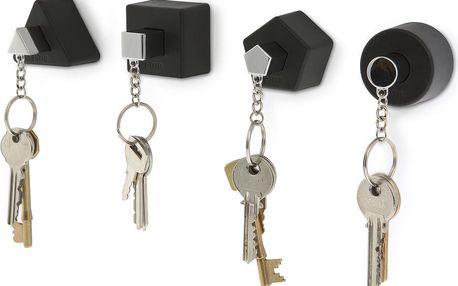 Věšáčky na klíče Shape, černé