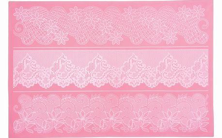 Silikonová zdobící podložka Large Lace Floral, 40x27 cm