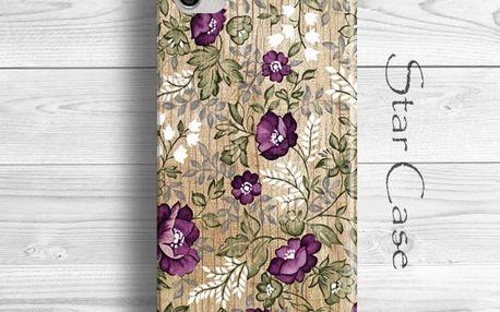 Obal na iPhone 5/5S Wood Floral Purple