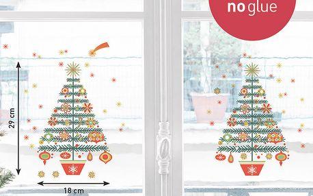 Elektrostatická samolepka Vánoční stromek