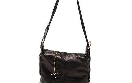 Dámská černá kabelka s přezkou Renata Corsi