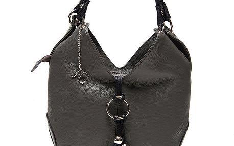 Dámská tmavě šedá kabelka na zip Renata Corsi