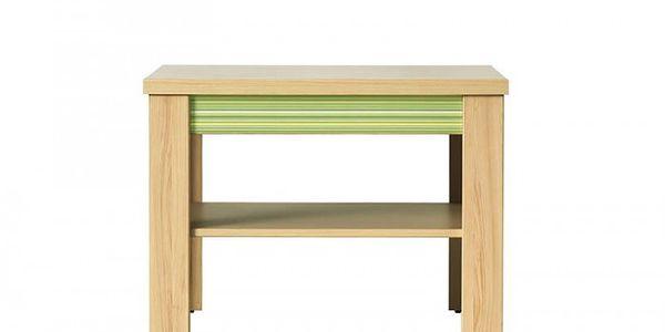Konfereční stolek dřevěný Codi CD 1 (višeň cornvall/zelená)