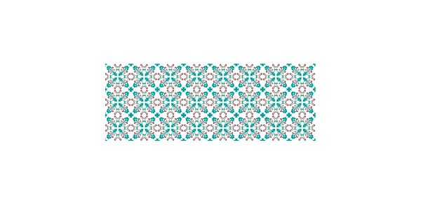 Vinylový koberec Mosaico Modernista Azul, 66x180 cm