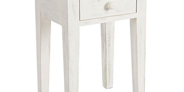 Noční stolek Lampada Bianco, 40x30x57 cm