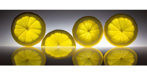 Skleněný obraz Lemon 30x80 cm