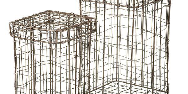 Sada 2 košů Wire, 25x15 cm