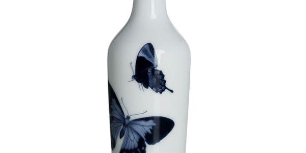 Keramická lahev s motýly