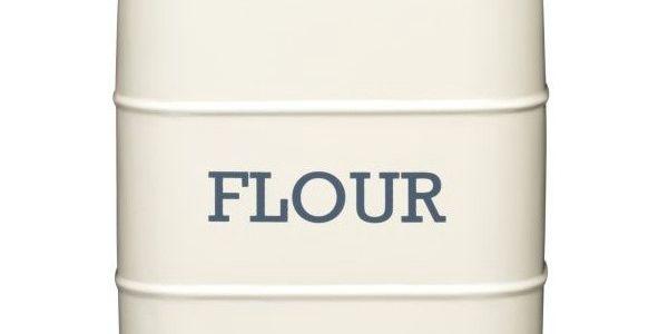 Plechová dóza Flour, krémová