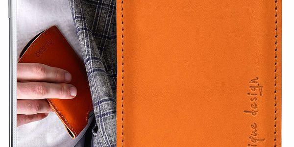 Kožený obal na Samsung Galaxy S5 Cognac