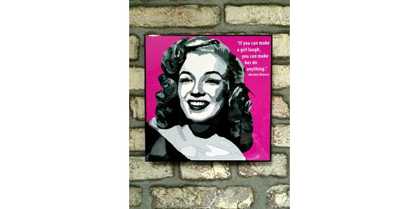 Obraz Marilyn Monroe - If you can make a girl laugh