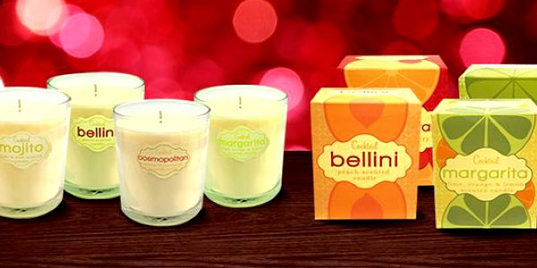 Romantické svíčky s vůní koktejlů - 4 varianty