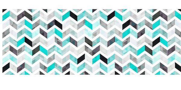Vinylový koberec Mosaico Modernista Turquesa, 66x180 cm