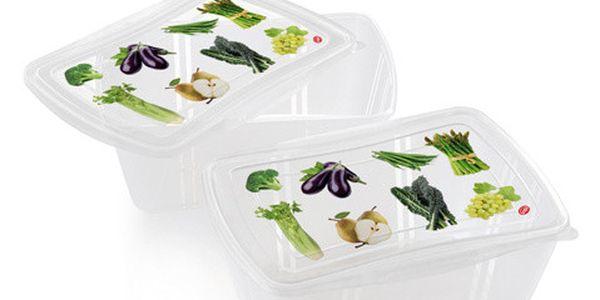 Set 2 krabiček na jídlo Fresh, 2 l