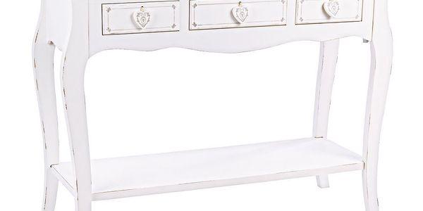 Konzolový stolek Lisette, 106,5x40x81 cm
