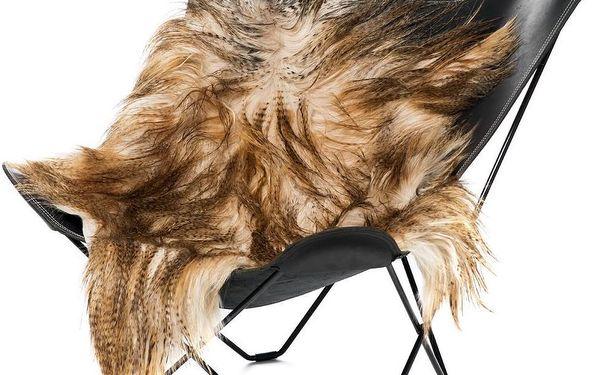 Kožešina z mongolské kozy Brown, 110x80 cm - doprava zdarma!