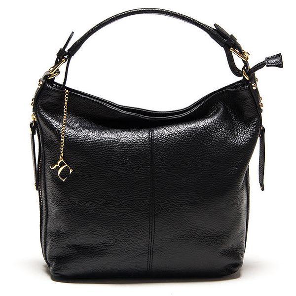 Dámská černá prostorná kabelka Renata Corsi