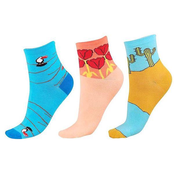 Dámský set barevných ponožek s obrázky Happy Socks - 3 páry