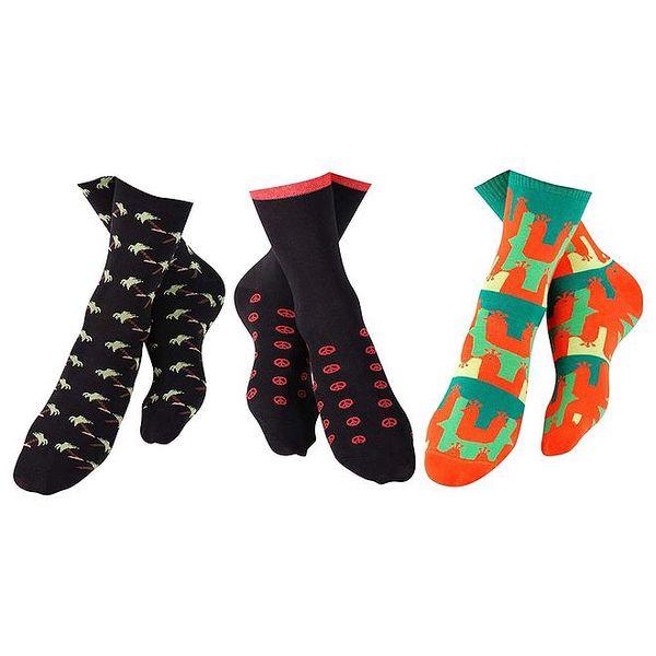 Set pánských barevně vzorovaných ponožek Happy Socks - 3 páry