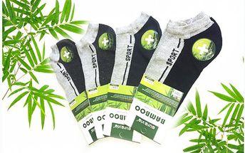Osm párů pánských ponožek s bambusovým vláknem. Kotníčkové ponožky se hodí do práce i na sport.