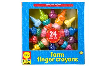 Prstové barvy farma 24ks