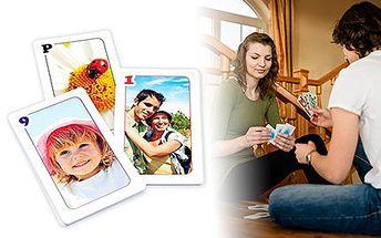 Hrací karty s vlastními fotkami: Prší, kvarteto, Černý Petr, Canasta