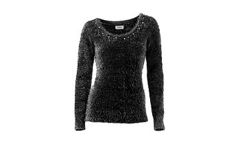 Příjemný dámský pulovr s flitry