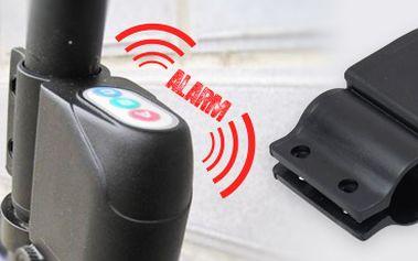 Alarm na kolo. Účinná ochrana proti krádeži! Jednoduché používání.